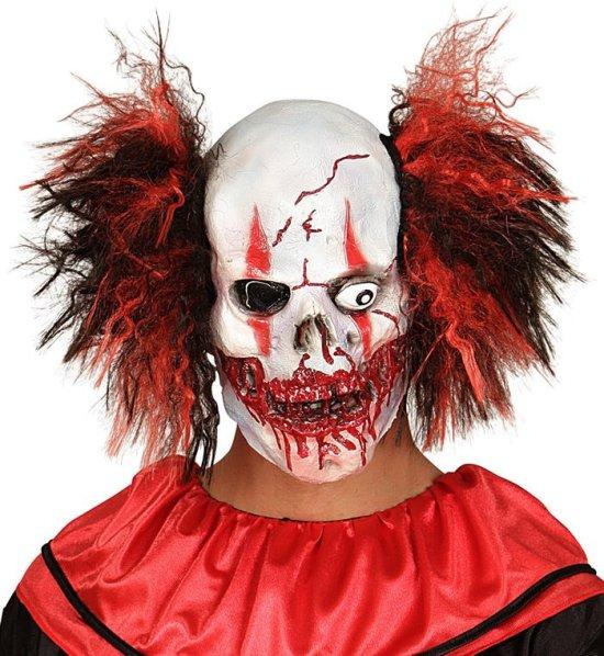 Mask, blodig doskalle, clown Tillbehor