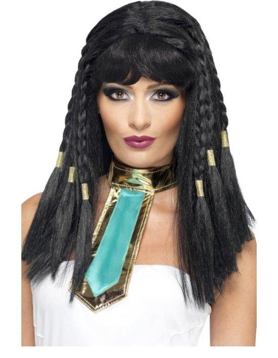 Kleopatra peruk med flator Tillbehor