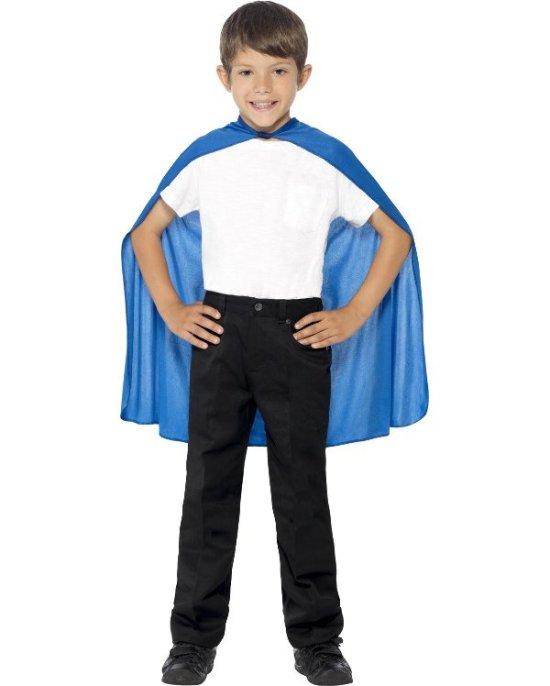 Liten cape, blaa, barn Tillbehor