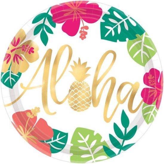 Stora Papperstallrikar Aloha dekoration