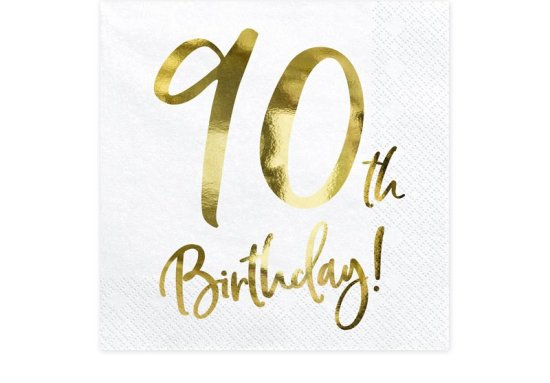 Servetter till 90-aarsdagen Festartiklar