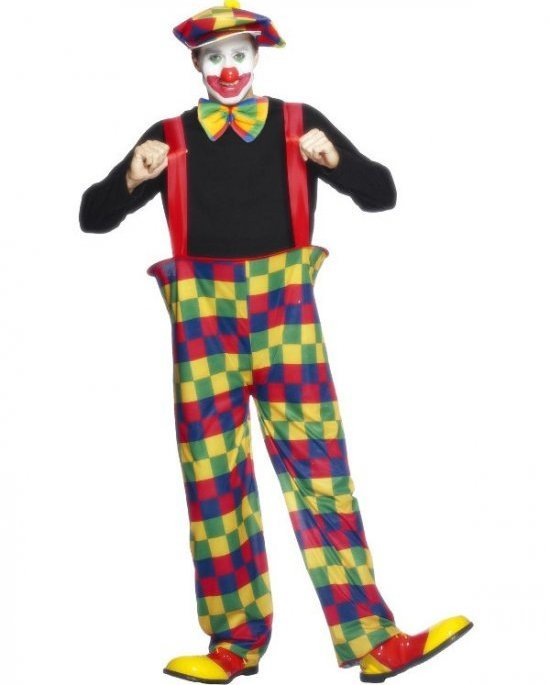 Rolig clown Maskeraddrakter