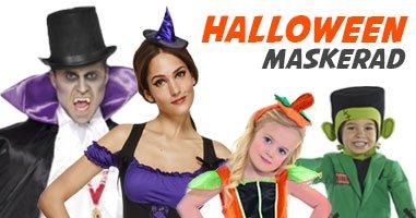 Halloween maskeradkläder för hela familjen
