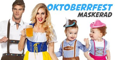 Oktoberfest maskeradkläder för hela familjen