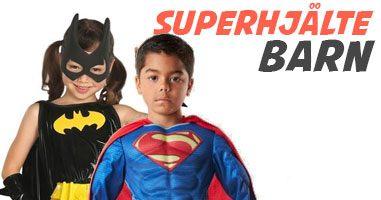 Superhjältedräkter för barn